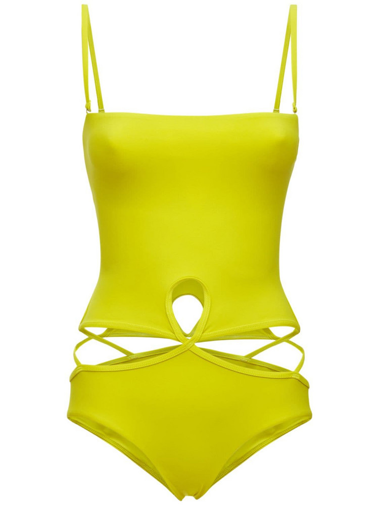 CHRISTOPHER ESBER Strapless One Piece Swimsuit in green