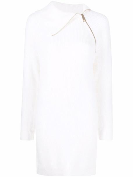 LIU JO zipped-neckline dress - White