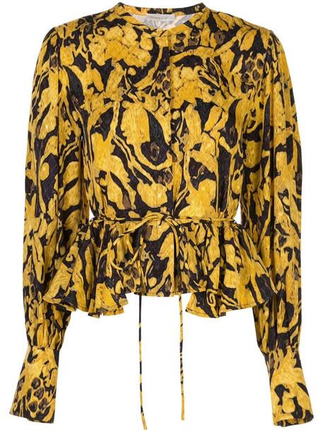 Stine Goya Ren printed blouse in yellow
