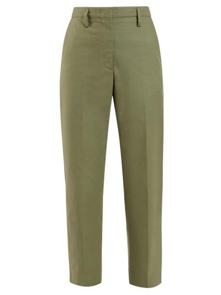Golden Goose - Golden Mid Rise Tailored Trousers - Womens - Khaki