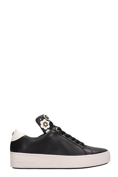 Michael Kors Black Leather Mindy Sneakers