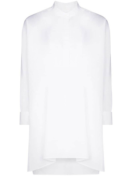 Chloé poplin collarless shirt in white