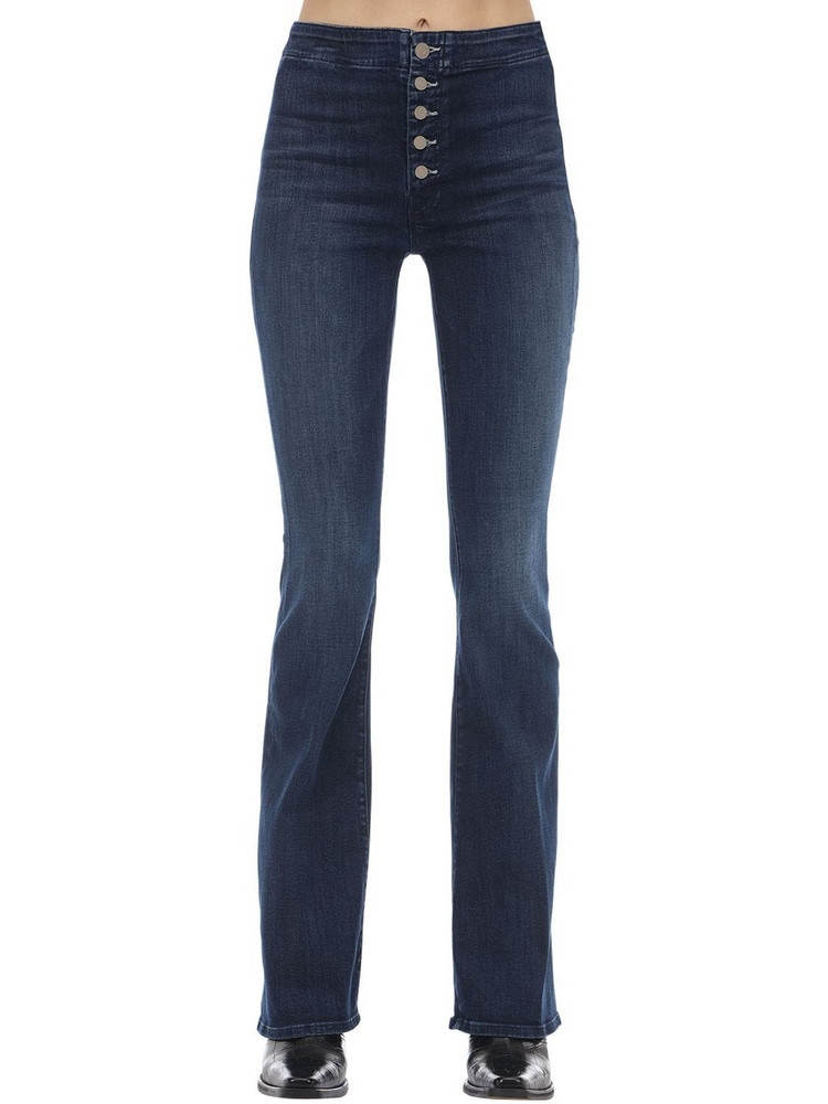 MOTHER The Hollywood Pixie Flared Stretch Jeans in blue