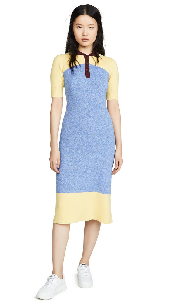 Chinti and Parker Annalise Dress in blue / cream