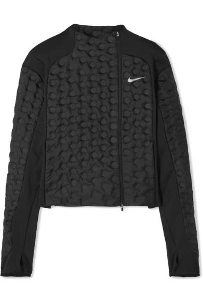 Nike - Aeroloft Paneled Stretch-jersey And Padded Shell Down Jacket - Black