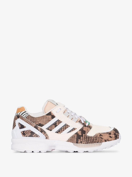 adidas brown ZX 8000 leather sneakers
