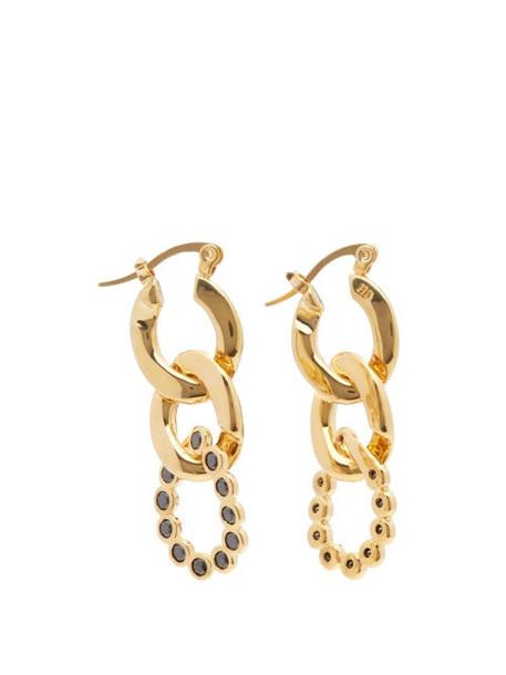 Hillier Bartley - Crystal Curb-link Earrings - Womens - Black