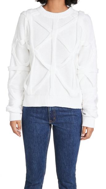 RtA Emma Sweater in white