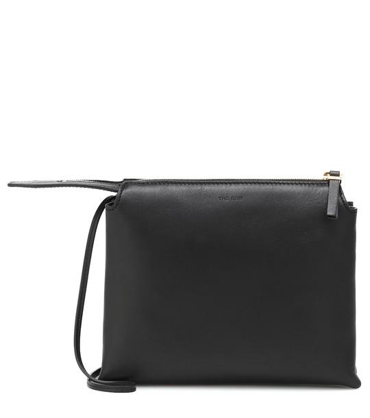 The Row Nu Twin Mini leather crossbody bag in black