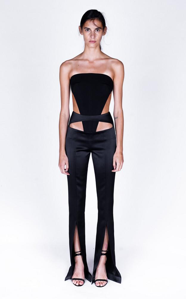 Monot Cutout Crepe Jumpsuit in black