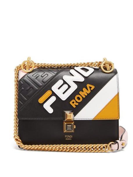 Fendi - Mania Kan I Small Leather Cross Body Bag - Womens - Black Multi