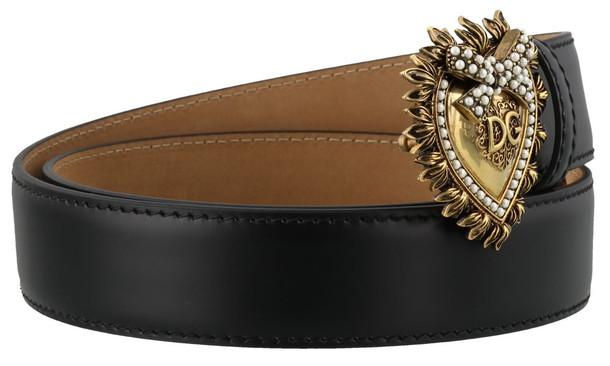 Dolce & Gabbana Logo Devotion Belt in black