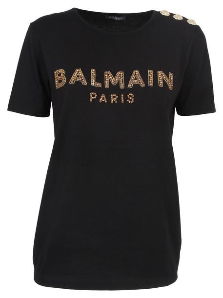 Balmain T-shirt Logo in noir