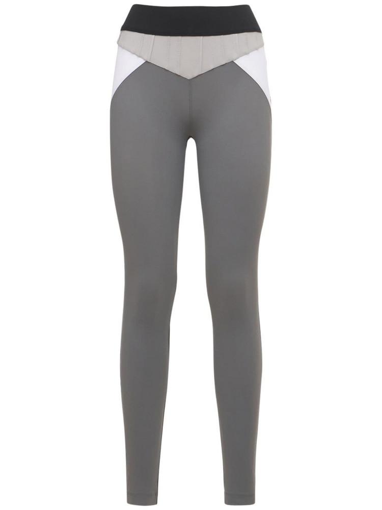 NO KA'OI Color Block Leggings in grey / multi
