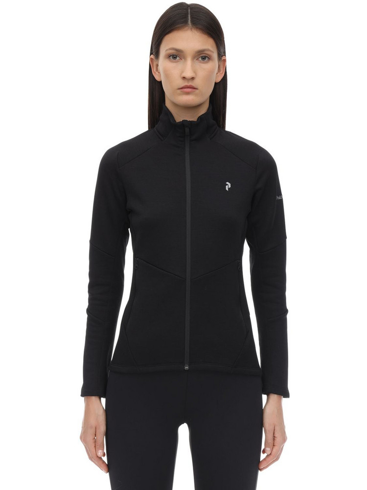PEAK PERFORMANCE W Helo Mid Zip Jacket in black