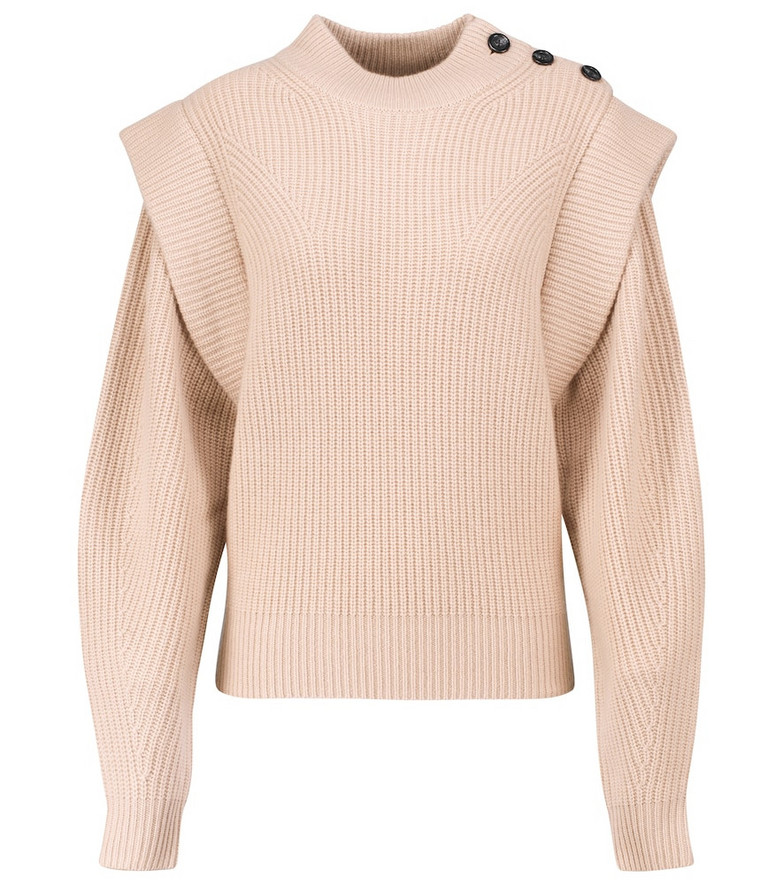 Isabel Marant Peggy wool and cashmere sweater in beige