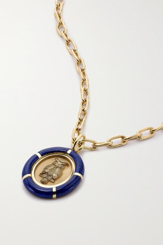 Retrouvaí Retrouvaí - Fantasy 14-karat Gold Lapis Lazuli Necklace - one size