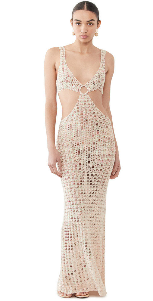 Cult Gaia Tyra Crochet Dress in white