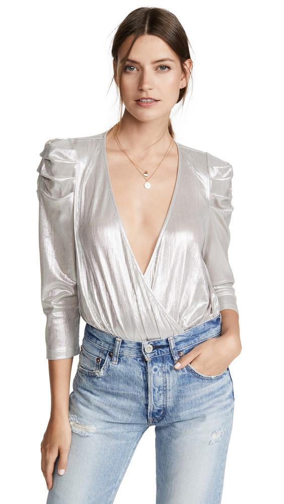 Retrofete Jophiel Thong Bodysuit in silver
