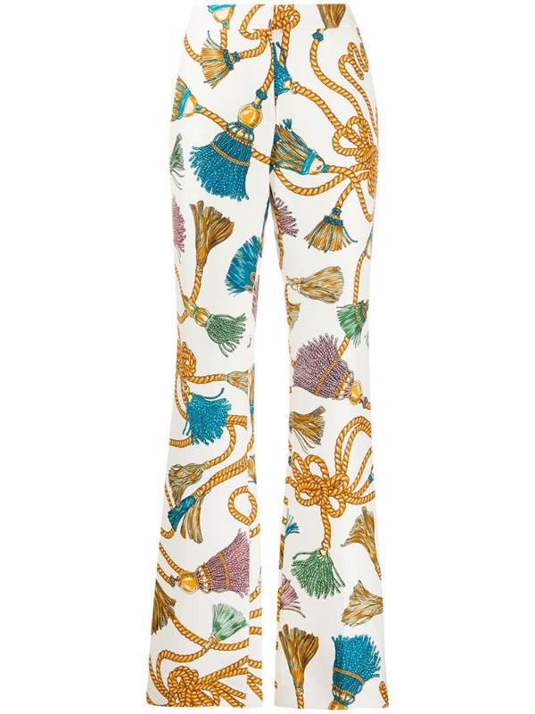 Moschino tassel print trousers in neutrals