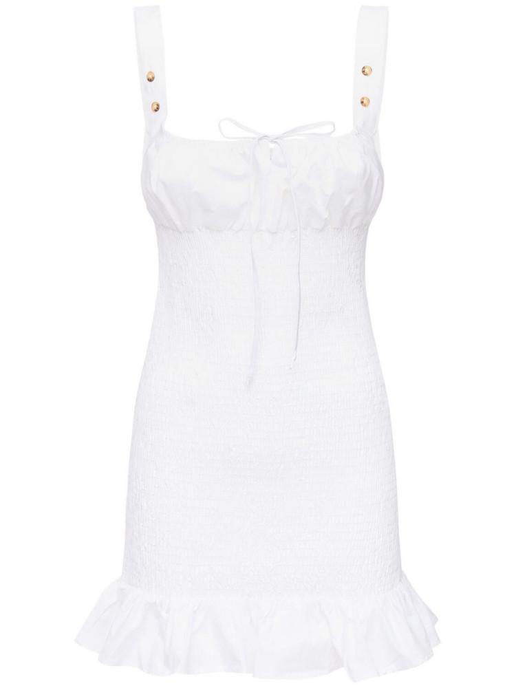 CIAO LUCIA Cara Elastic Washed Cotton Mini Dress in white