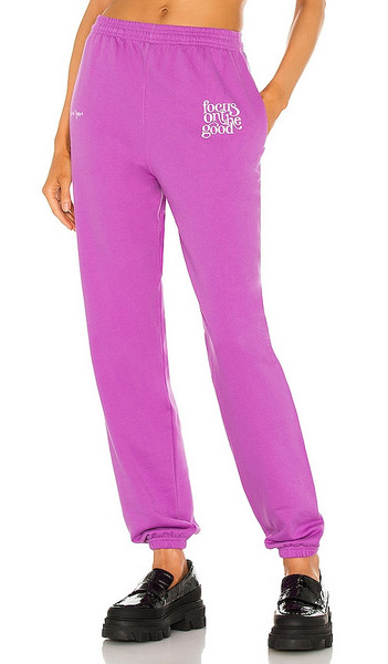 By Samii Ryan Focus On The Good Sweatpant in Purple in violet