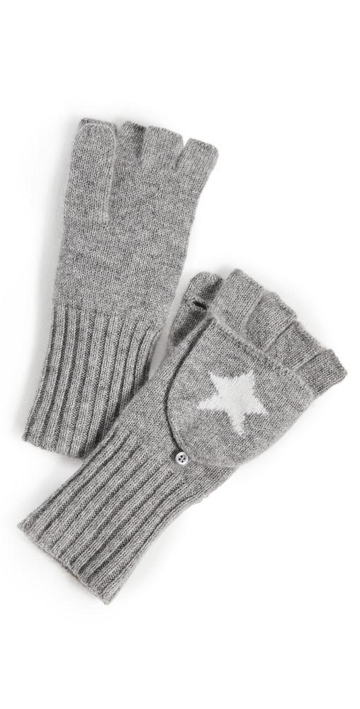 White + Warren White + Warren Cashmere Star Pop Top Gloves