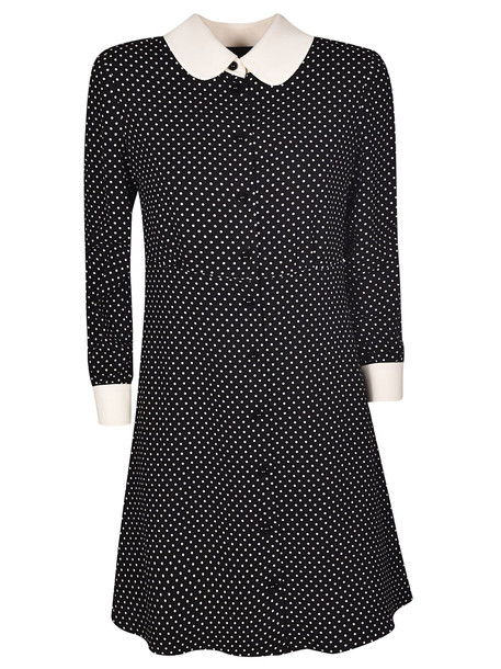 Celine Classic Dotted Dress in black