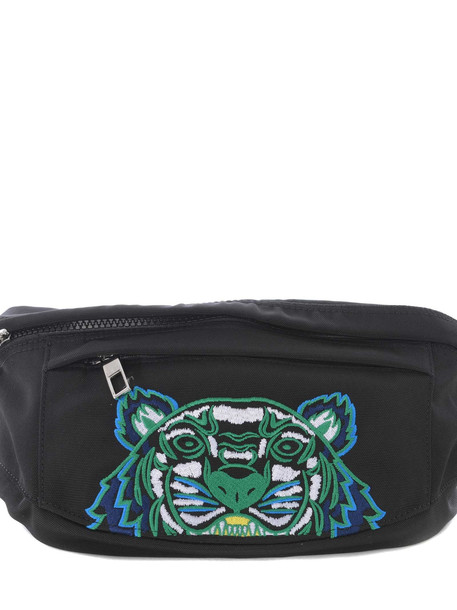 Kenzo Tiger Embroidered Belt Bag in nero
