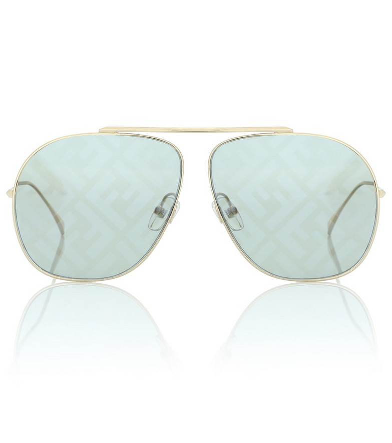 Fendi FF Family aviator sunglasses in blue