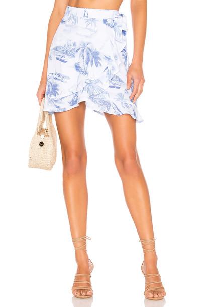 Show Me Your Mumu X REVOLVE Roam Ruffle Skirt in blue
