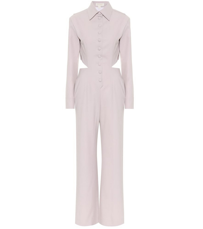 Matériel Tbilisi Cutout wool-blend jumpsuit in purple
