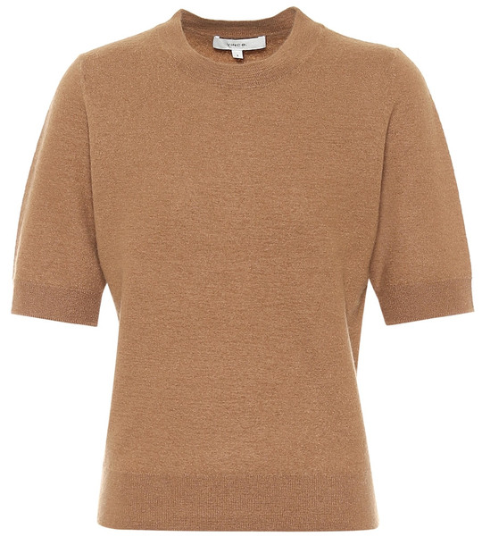 Vince Cashmere T-shirt in brown