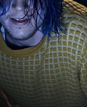 sweater,yellow/ tan with darker yellow squares