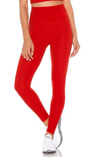 Splits59 Airweight High Waist 7/8 Legging in Red