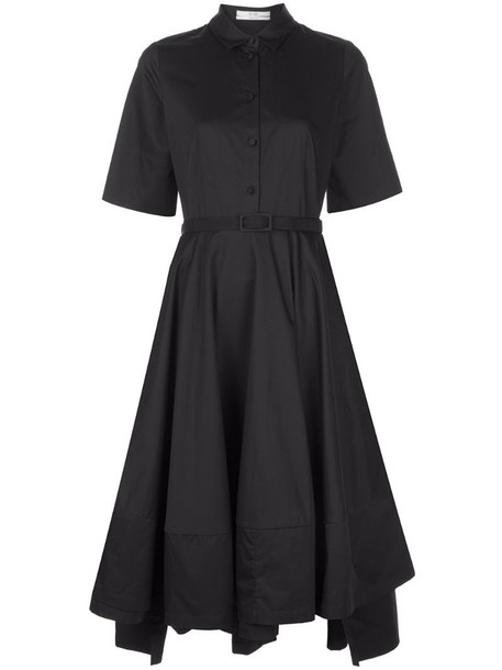 Co short sleeve shirt dress in black