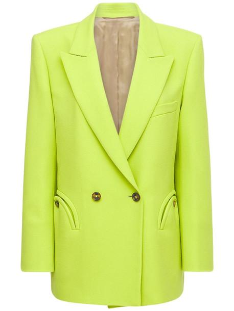 BLAZÉ MILANO Cool & Easy Double Breast Wool Blazer in green