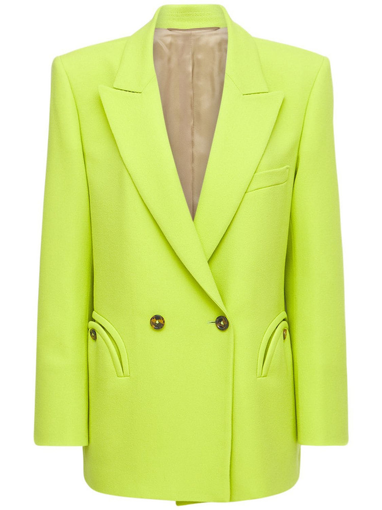 BLAZÉ MILANO Cool & Easy Double Breast Wool Blazer in green