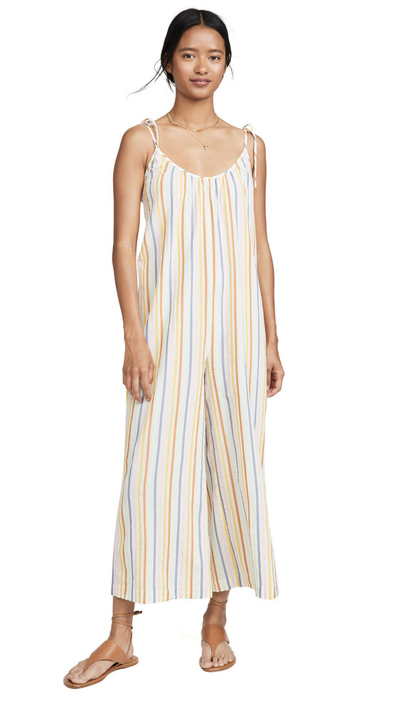 Madewell Tie Shoulder Jumpsuit in ivory