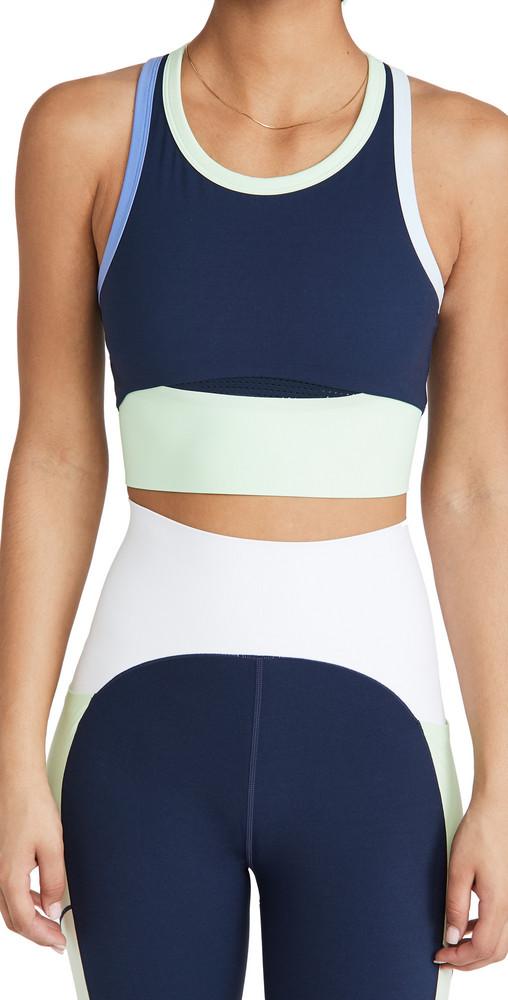 Sweaty Betty Power Frame Workout Top in blue