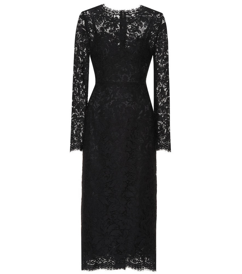 Dolce & Gabbana Lace midi dress in black
