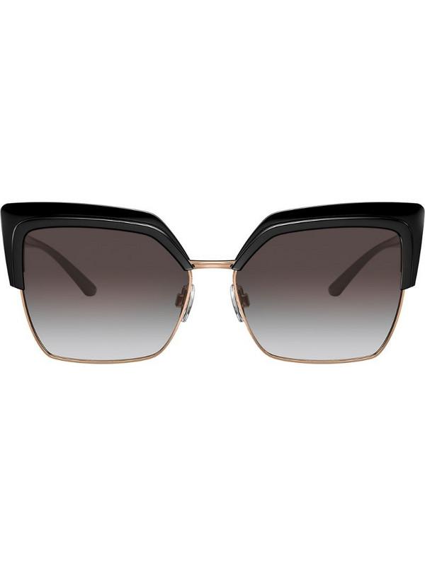 Dolce & Gabbana Eyewear square-frame oversized sunglasses in black