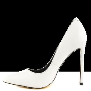 White Stiletto Heels Office Shoes Floral Heels Pumps