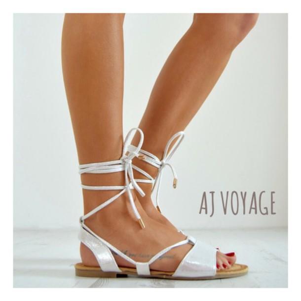 shoes silver black metallic metallic shoes sandals flats summer women silver flat sandals