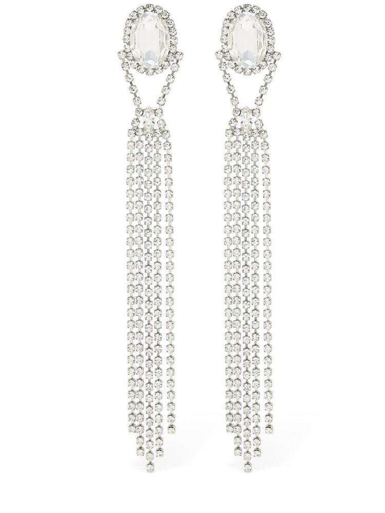 16ARLINGTON Long Crystal Drop Earrings in transparent