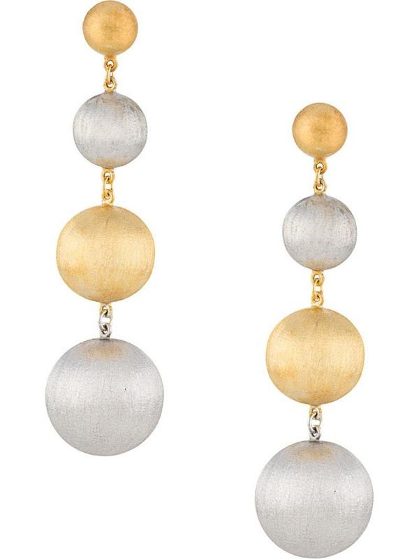 Eshvi polished ball earrings in silver