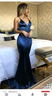 dress,navy dress,satin,prom dress