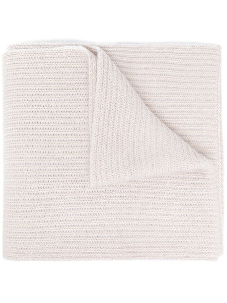 Joseph ribbed-knit scarf in neutrals