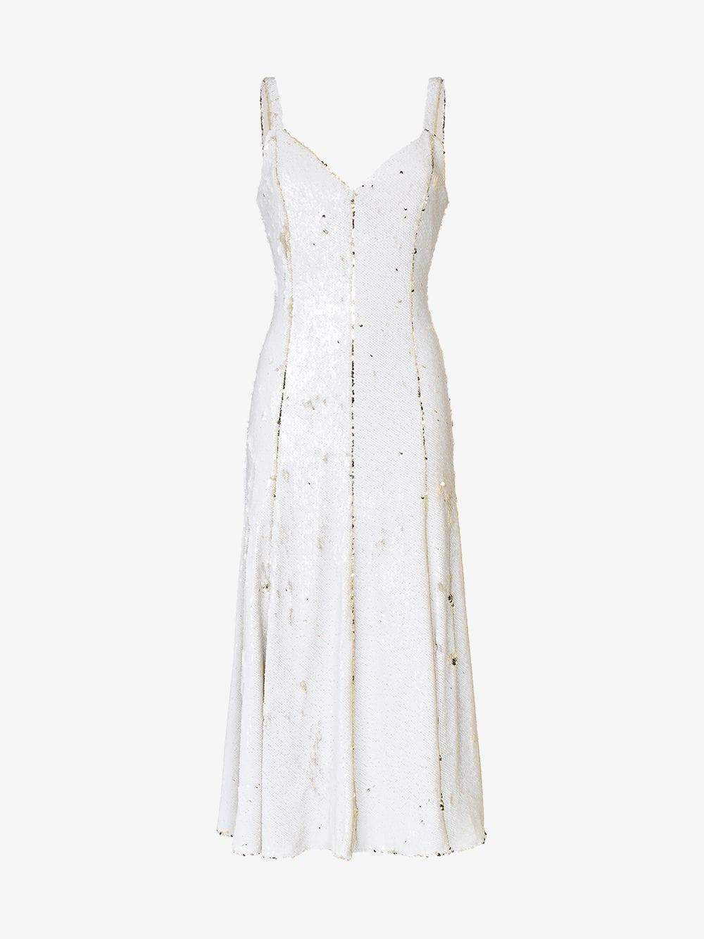Racil Marilyn two-tone sequin embellished midi dress in white