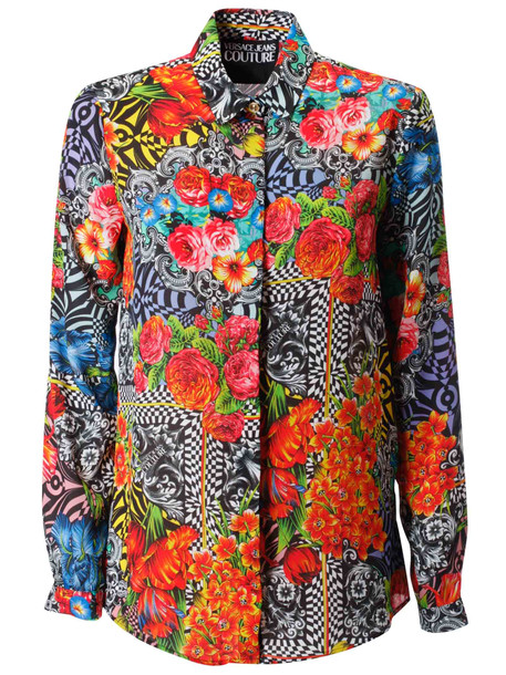 Versace Jeans Couture Floral Print Shirt